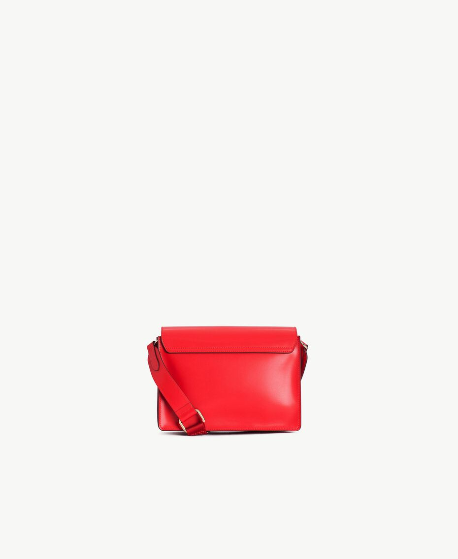 TWINSET Leather shoulder bag Ruby Woman AS8PE1-03