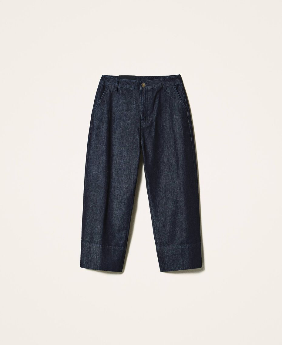 Wide leg jeans Dark Denim Woman 202MP2072-0S