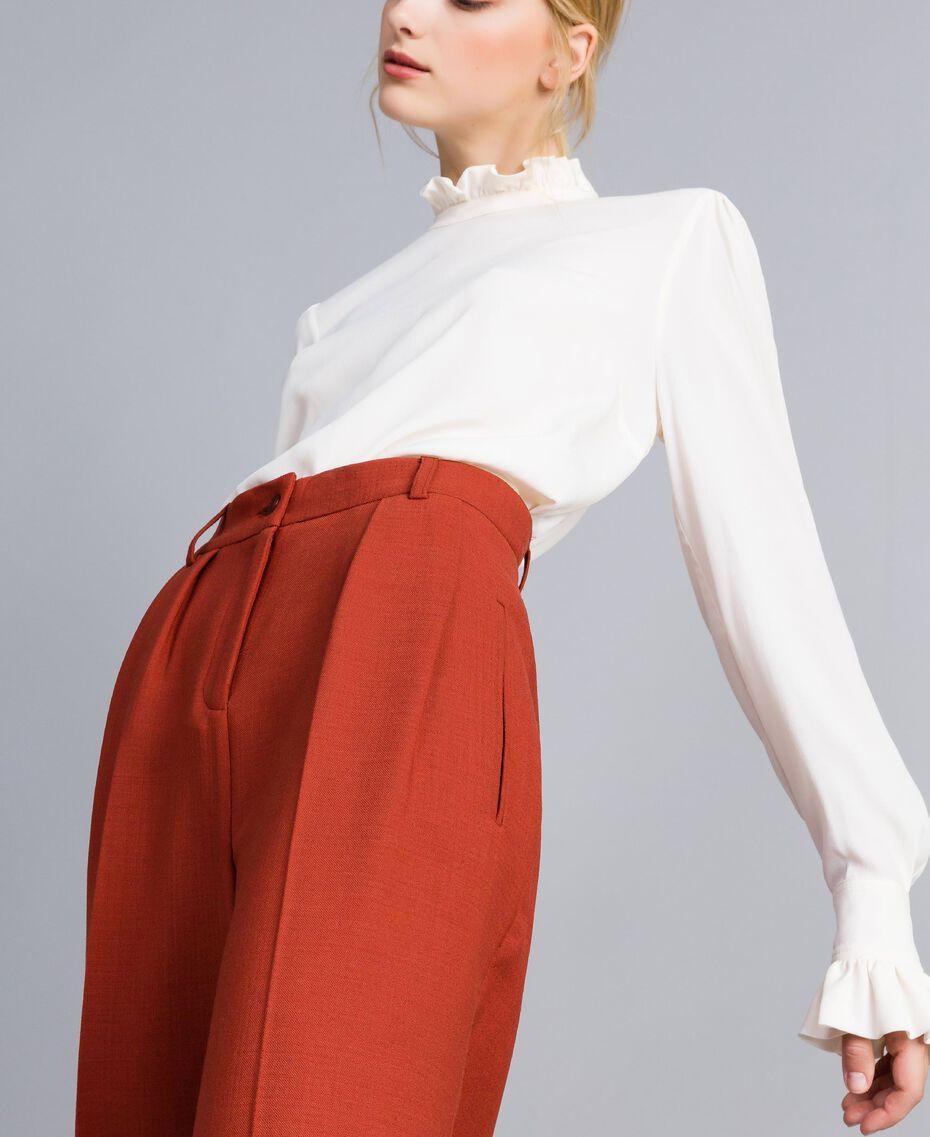 Укороченные брюки из бистрейч-шерсти Жженый женщина TA8271-01