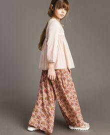 Georgette-Hosenrock mit Blumenmuster Motiv Miniblumen Kind 191GJ2801-02