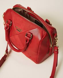 Faux leather bowler bag Cherry Red Woman 202MA7022-05