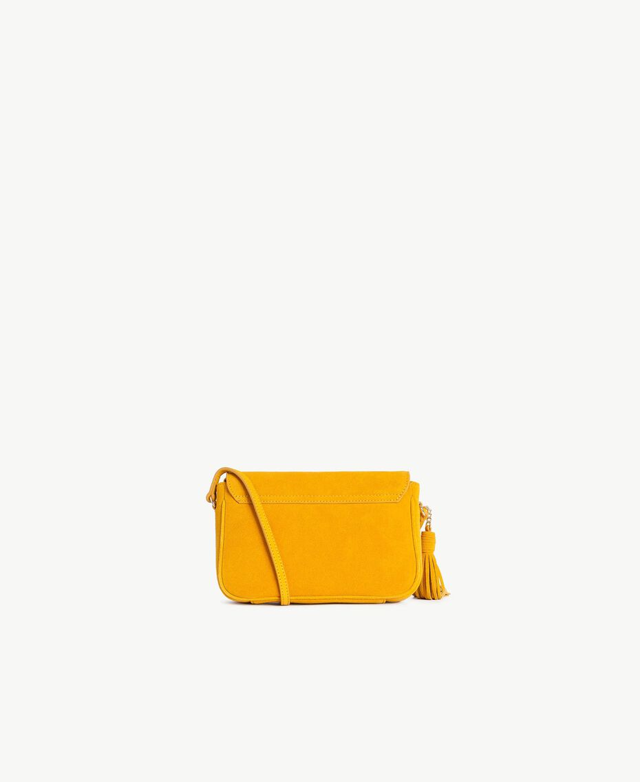 TWINSET Logo shoulder bag Ochre Yellow Woman OS8TEA-03