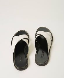 Leather sandals with rivets White Snow Woman 211TCT052-02