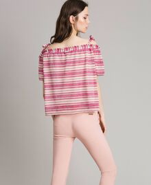 "Lurex striped blouse with bows Pink / ""Tangerine Cream"" Pink Multicolour Striping Woman 191LB2AKK-03"