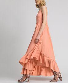 Asymmetrisches Kleid aus Crêpe de Chine aus Seidenmischung Pink Mousse Frau 192TP2384-02