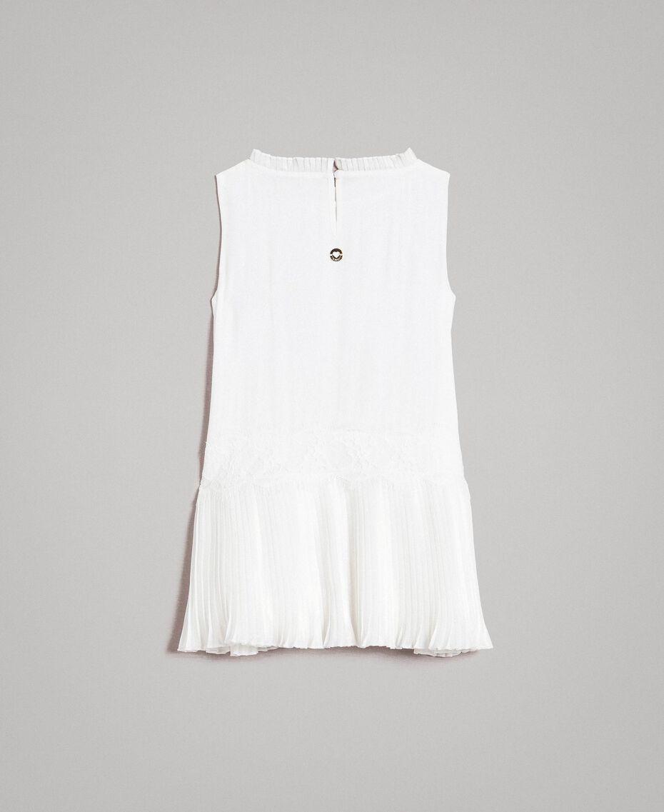 Vestido de crepé de China plisado Hueso Niño 191GB2QA0-0S