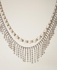 Choker with pearls and rhinestones Crystal Woman 202TA4313-02