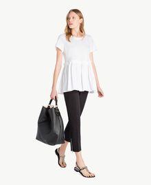 T-Shirt aus Jersey Weiß Frau TS821J-05