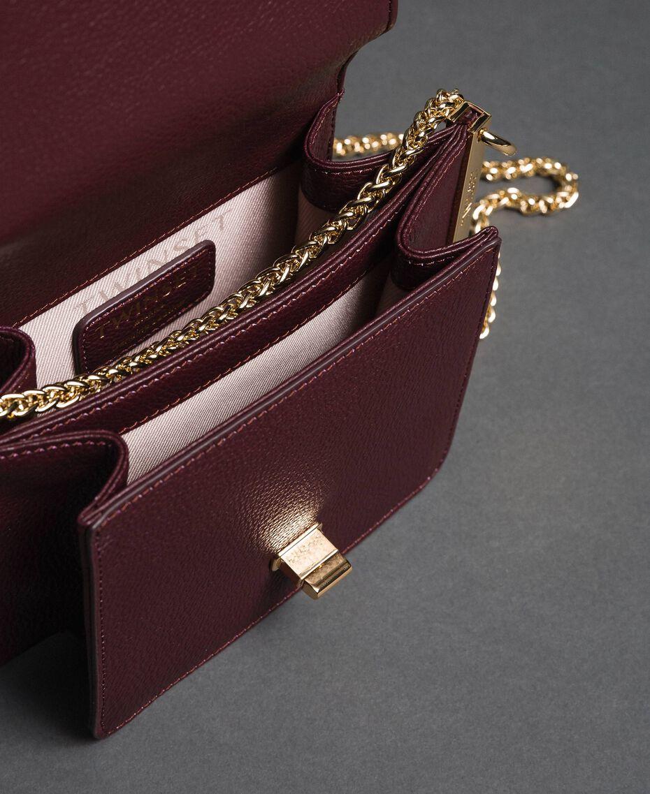 Petit sac à bandoulière Bea en cuir Rouge Betterave Femme 192TA7021-05