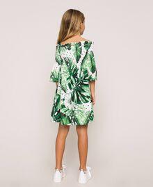 Kleid mit tropischem Print Print Tropical Tupfen Grün Kind 201GJ2302-04