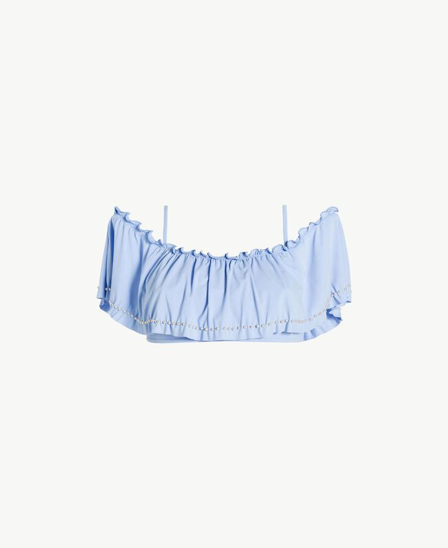 """Bandeau-Top mit Volant """"Blue Spume""""-Azur Frau BS8E33-01"""