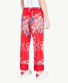 Flowers print trousers Flowers Print / Pomegranate Red Child GS82E2-03