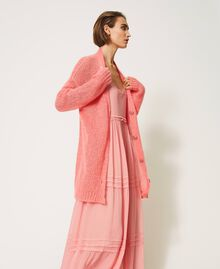 """Oversized mohair blend cardigan """"Peach Blossom"""" Pink Woman 202TP3271-04"""