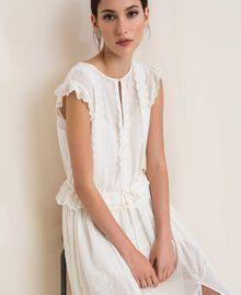 Длинное платье из сангалло Белый Снег женщина 201TP2497-05