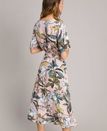 "Floral print crêpe dress ""Soft Pink"" Exotic Print Woman 191ST2232-03"