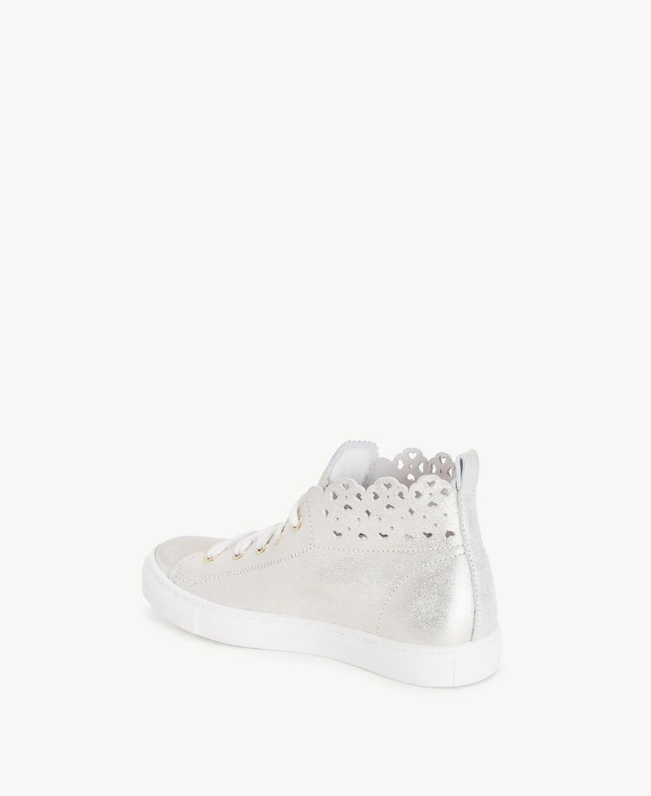 Scalloped sneakers Platinum Child HS88CN-03