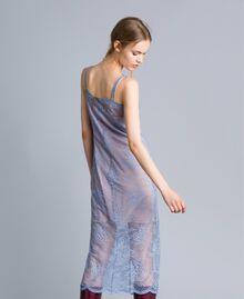 Robe nuisette en dentelle avec feston Bleu ciel Femme SA82HS-04