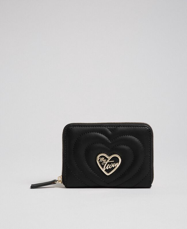 Small faux leather wallet Black Woman 192MA7088-01