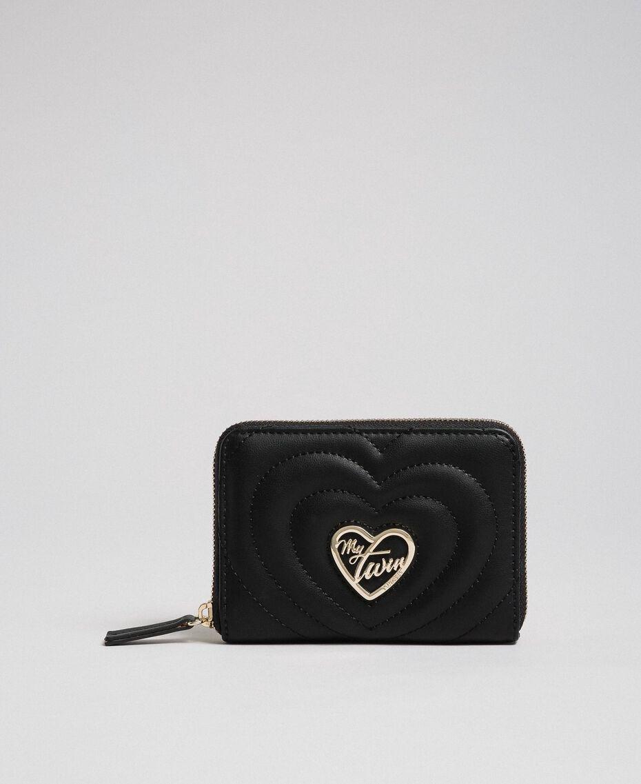 Petit portefeuille en similicuir Noir Femme 192MA7088-01