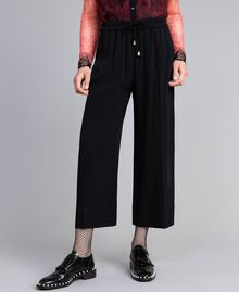 Cropped cady trousers Black Woman PA822P-04