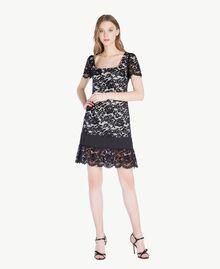Kleid mit Spitze Schwarz Frau TS828P-01