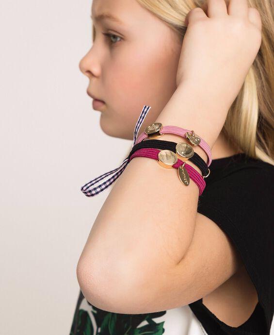 Ponytail holder-bracelets with logo