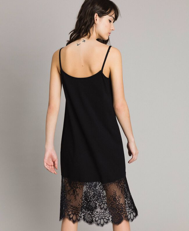 Lace slip dress Black Woman 191TP260H-03