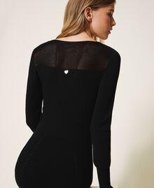 Robe fourreau en maille Noir Femme 202TT3120-04