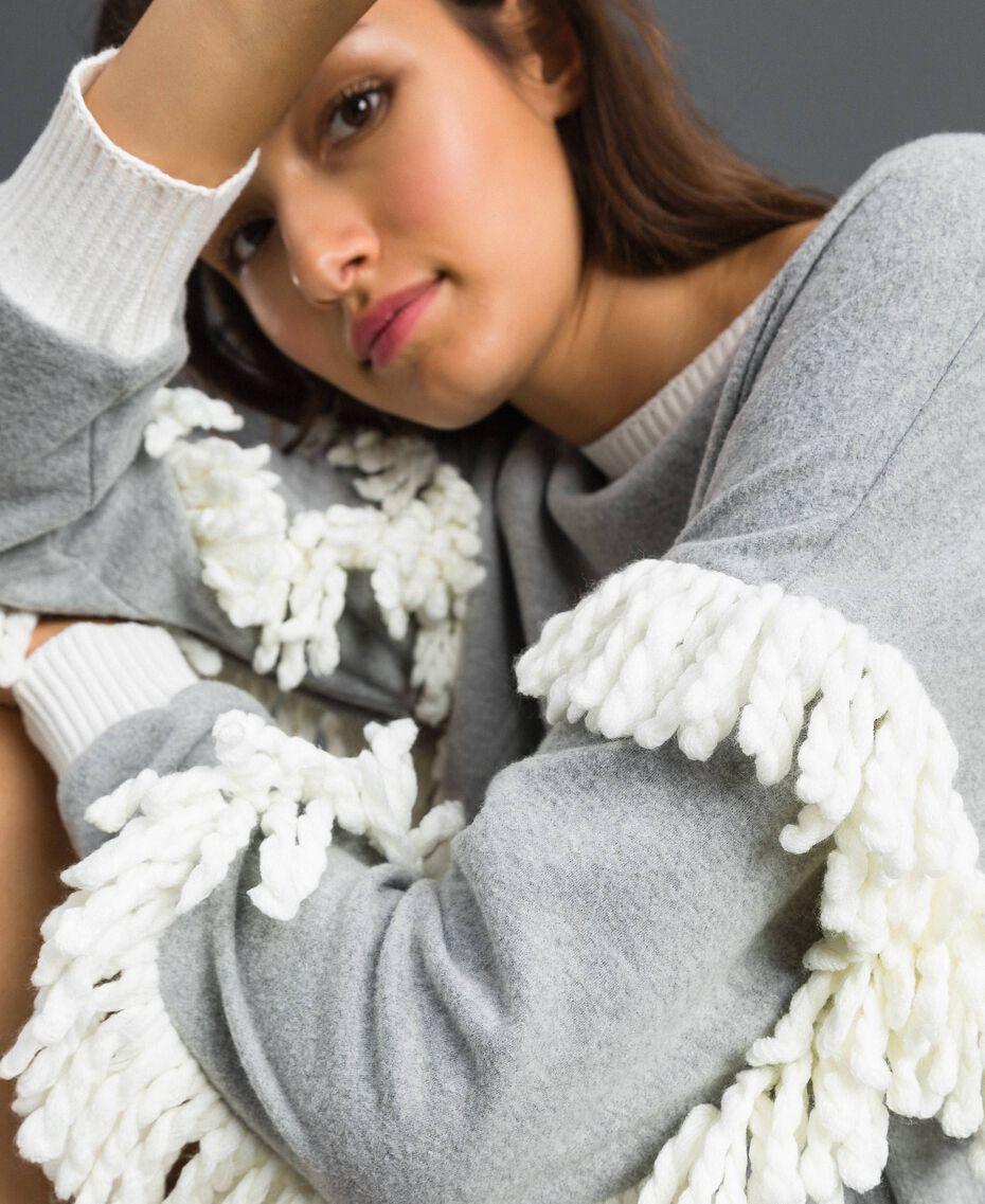 Chemise de nuit avec franges Gris Mélangé Femme 192LL2EEE-05