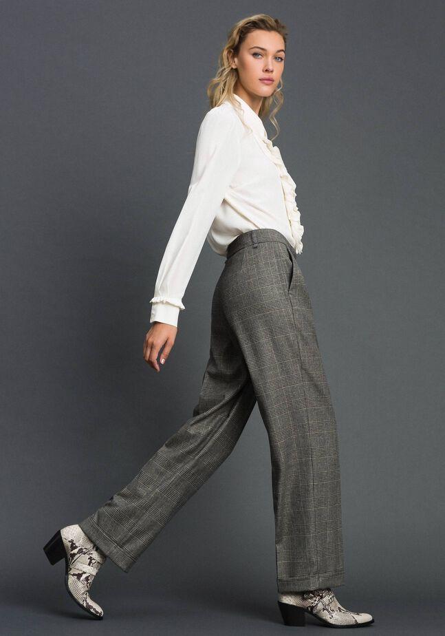 Широкие брюки в виндзорскую клетку