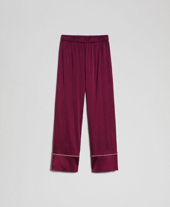Pantalon en satin avec liseré