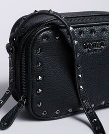 Faux leather studded shoulder bag Black Woman VA8PAE-04