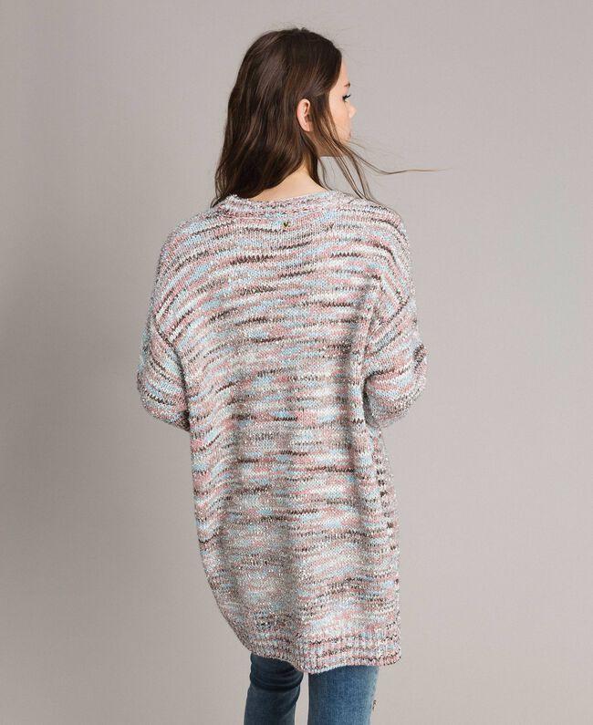 """Multicolour lurex cardigan Multicolour """"Pastel Colour"""" Lurex Woman 191MP3181-03"""