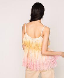 Tie-dye lace top Multicolour Tie Dye Pink Woman 201TT2280-03
