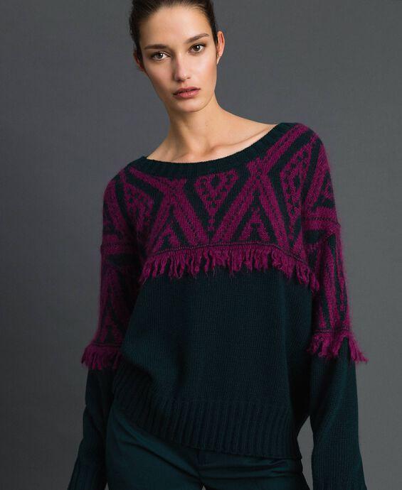 Jacquard maxi jumper with ethnic motif