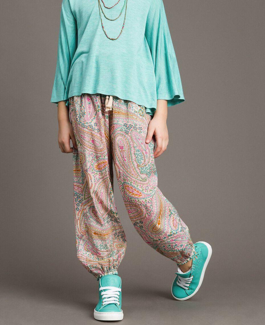 Pantalon en mousseline avec imprimé cachemire Imprimé Paisley Enfant 191GJ2511-02