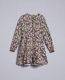 Printed viscose dress Micro Flower Print Child GA82TC-01