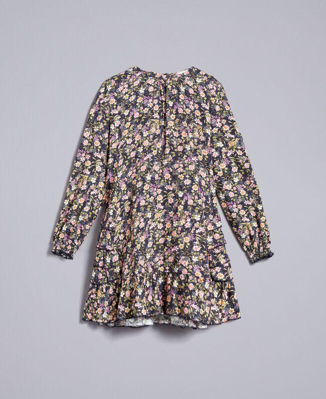 Robe en viscose imprimée Imprimé Petite Fleur Enfant GA82TC-01