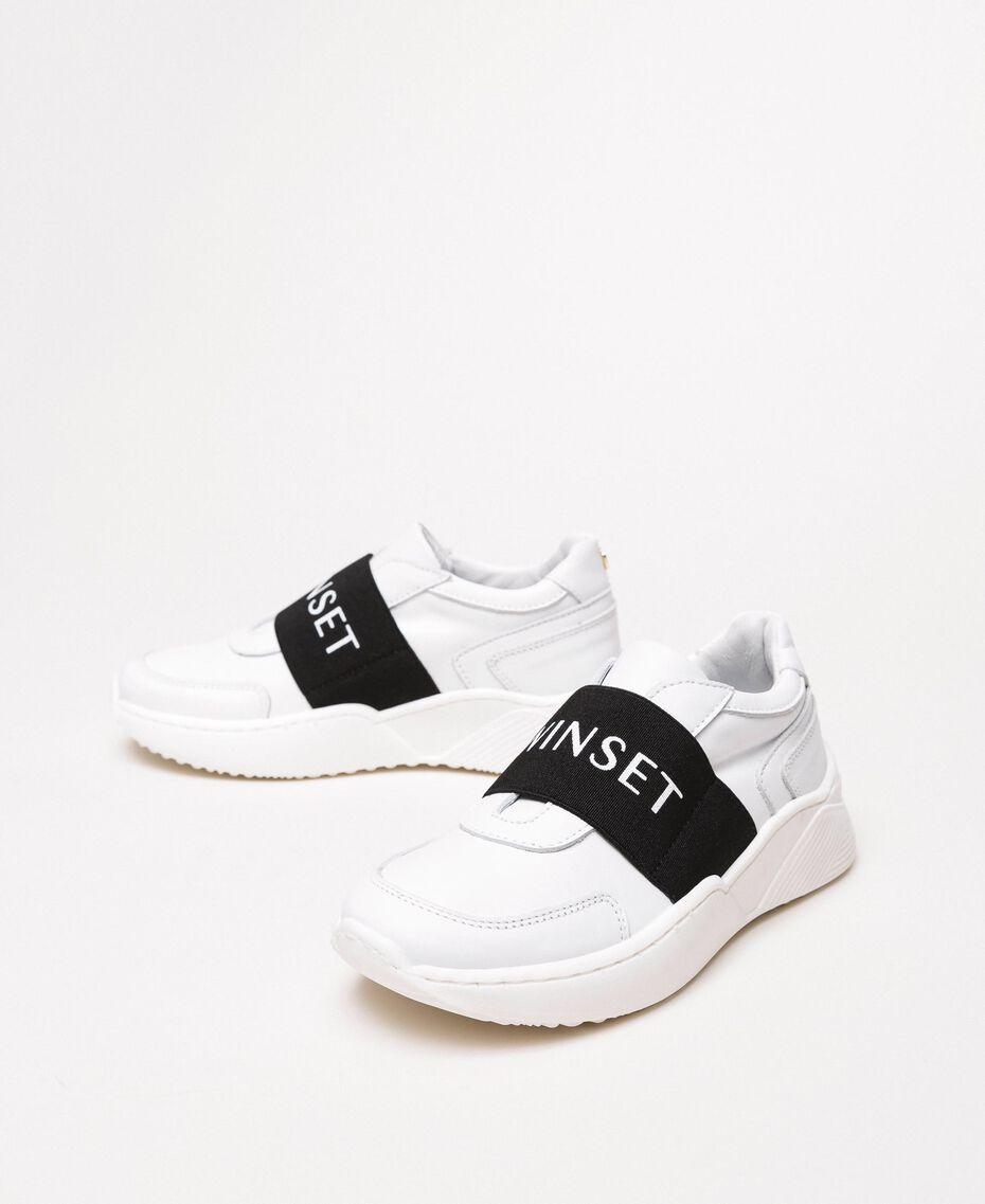 Zapatillas de running con logotipo Blanco Niño 201GCJ024-01