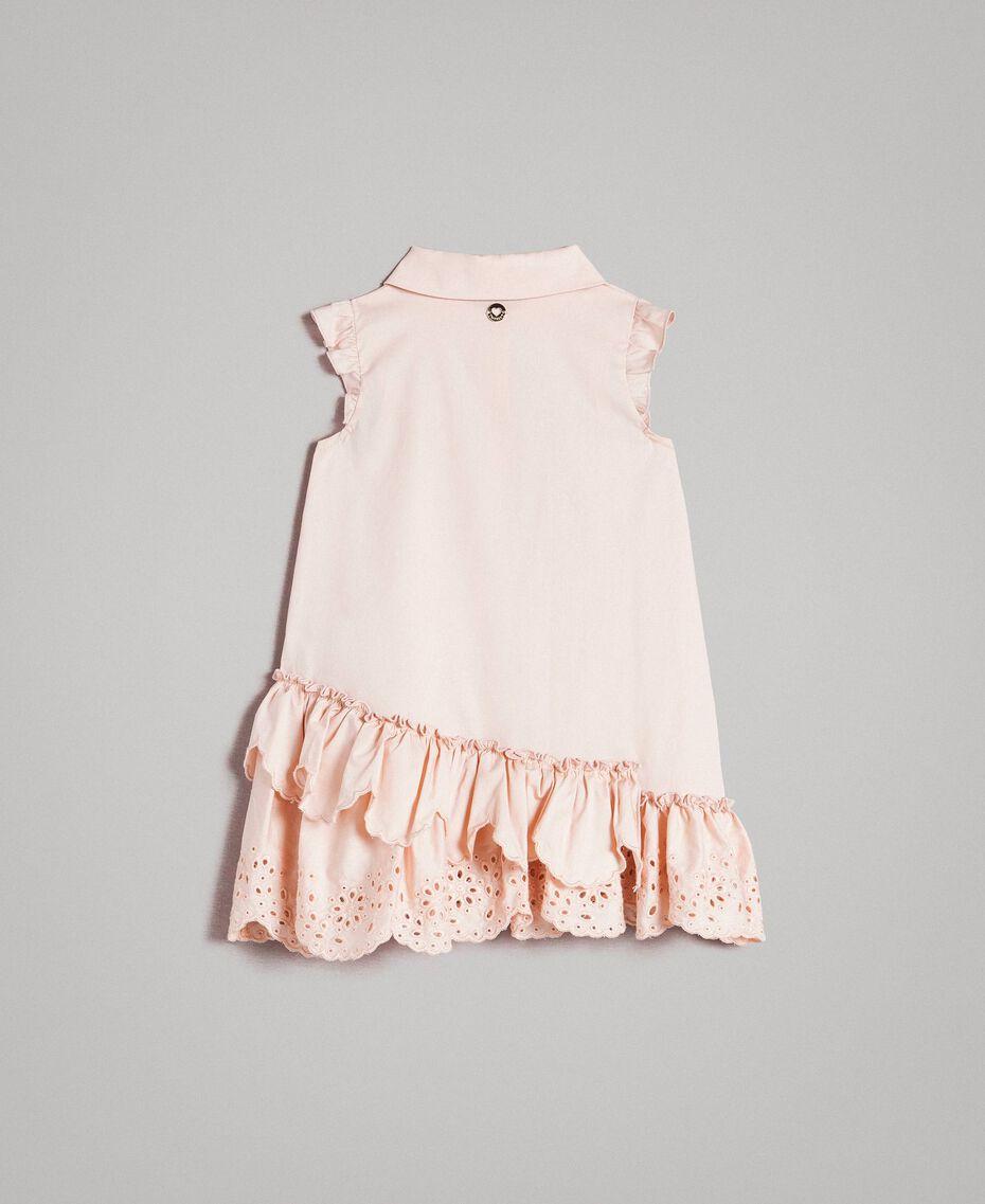 Robe chemise en popeline avec broderie anglaise Rose En fleur Enfant 191GB2190-0S