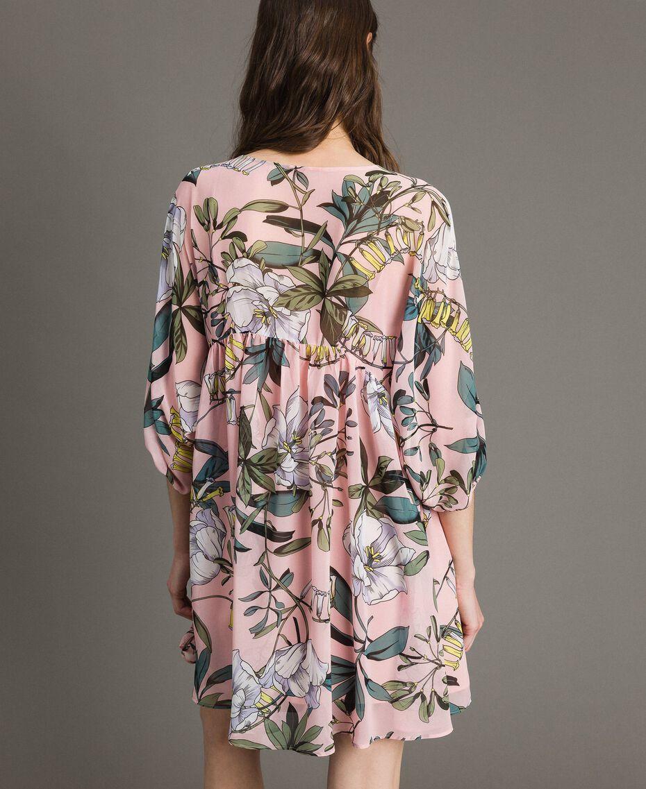 """Robe tunique en crêpe georgette avec imprimé floral Imprimé Exotique """"Rose Doux"""" Femme 191ST2222-03"""