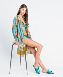 "Mules de terciopelo Azul ""Blue Melancholia"" Mujer LA8JFF-0S"