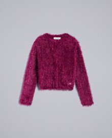 "Cardigan mit Schlingenstich ""Sweet Grape""-Violett Kind GA83D3-01"