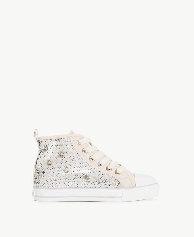 Sequin sneakers Pale Cream Child HS88GA-01