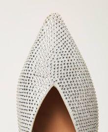 "Rhinestone slippers ""Crystal Rhinestone"" White Woman 211TCT090-04"