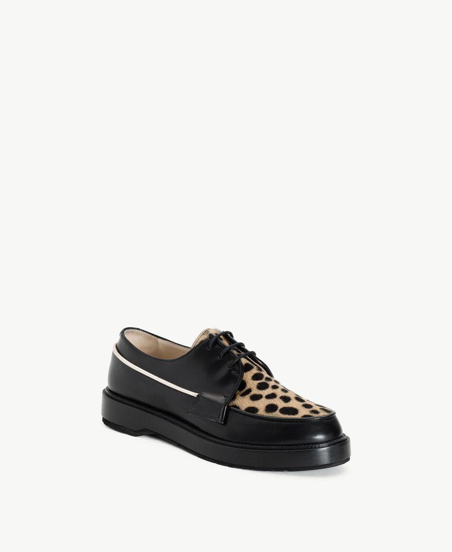 "TWINSET Animal print lace-up shoes ""Ponyskin"" Animal Print Woman CS8PBE-02"