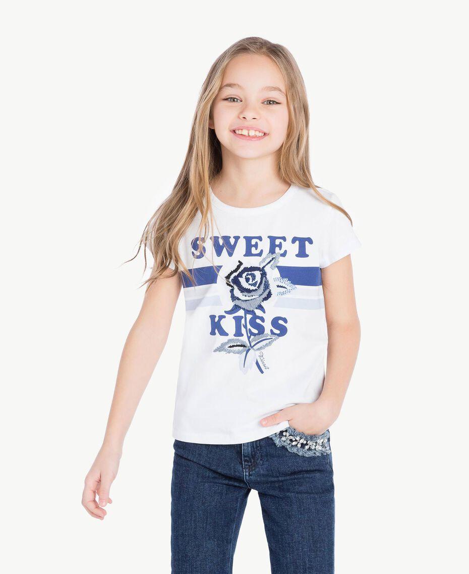 "T-shirt stampa Stampa ""Sweet"" Bambina GS82A2-02"