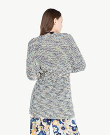Oversize-Cardigan Bedrucktes Multicolor-Garn Frau SS83CB-03