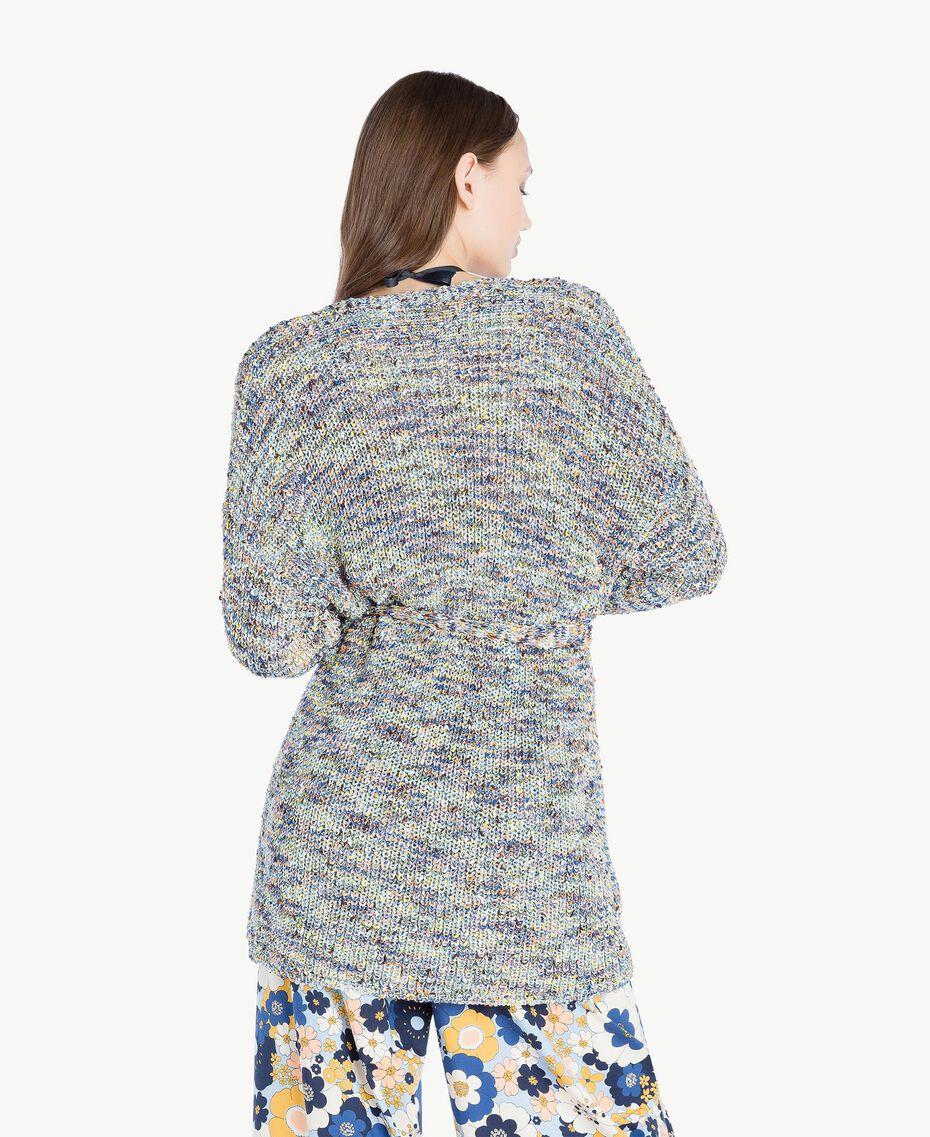 Oversized cardigan Multicolour Printed Yarn Woman SS83CB-03