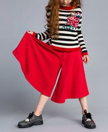 Jupe pantalon en crêpe Rouge Coquelicot Enfant GA82DC-04
